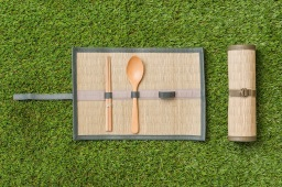 「藺草餐具收納卷軸」